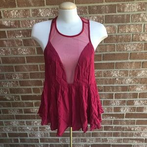 Intimately Free People Burgundy Tank Top Size XS
